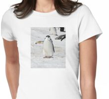 """Chinstrap Penguin  ~  """"Traffic Cop on Point Duty"""" Womens Fitted T-Shirt"""