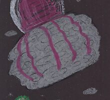 Giant Space Jellyfish 2 Oil & Pastels by SteveHanna