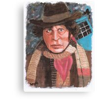 Tom Baker - 4th Doctor Who Canvas Print