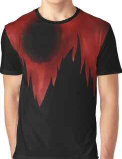 Black Mountains Against a Red Sky! Graphic T-Shirt