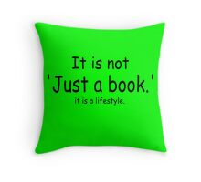 it is not just a book - green Throw Pillow