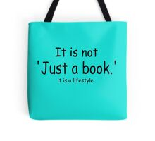 it is not just a book - blue Tote Bag