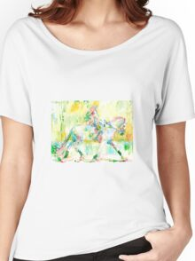 GIRL MOUNTING a HORSE Women's Relaxed Fit T-Shirt