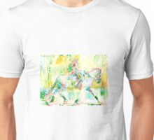 GIRL MOUNTING a HORSE Unisex T-Shirt