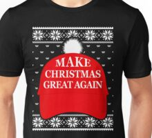 Make Christmas Great Again Hat, Trump Ugly Sweater T-Shirt Unisex T-Shirt