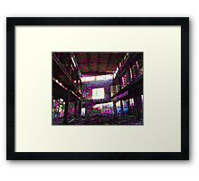 Destruction Design // Pink Framed Print