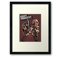 Scout Regiment Vs. The Titans Framed Print