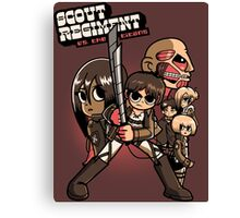 Scout Regiment Vs. The Titans Canvas Print