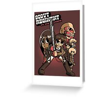 Scout Regiment Vs. The Titans Greeting Card