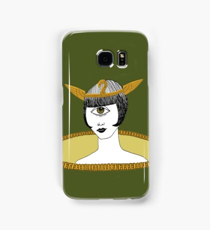 Cyclops Louise Brooks as Egyptian Valkyrie with All-Seeing Eye Samsung Galaxy Case/Skin