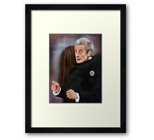12th Doctor, not a hugging person Framed Print