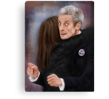 12th Doctor, not a hugging person Canvas Print