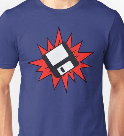 Dynamic Retro Floppy Disc old skool tech Unisex T-Shirt