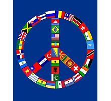 Peace Sign Of World Flags Photographic Print