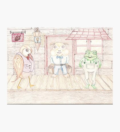 Bird , Hamster , Frog  Photographic Print