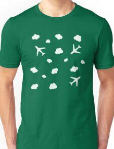 Flying High : Airplane Cloud Sky Design Print Unisex T-Shirt