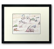 Gnome SteamPunk Caravan Framed Print