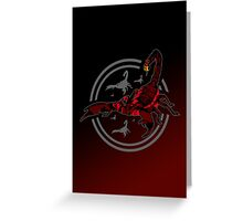 Red Scorpion Greeting Card