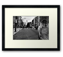 City in the Distance Framed Print
