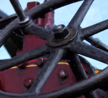 Traction engine close up collection 3 Sticker