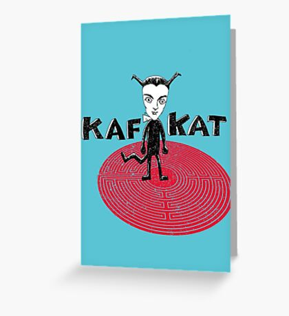 Kafka Cat Metamorphosis Greeting Card