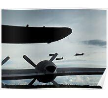 Homeward Bound - Formation of C-47s , Duxford 2014 Poster