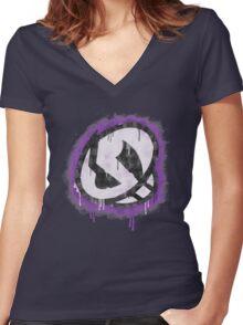 Team Skull Women's Fitted V-Neck T-Shirt