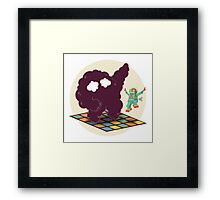 Emoc getting into the groove Framed Print