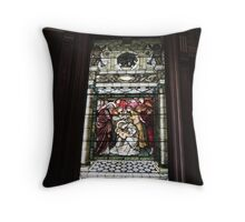 Baby Jesus Stained Glass Throw Pillow