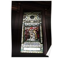 Baby Jesus Stained Glass Poster