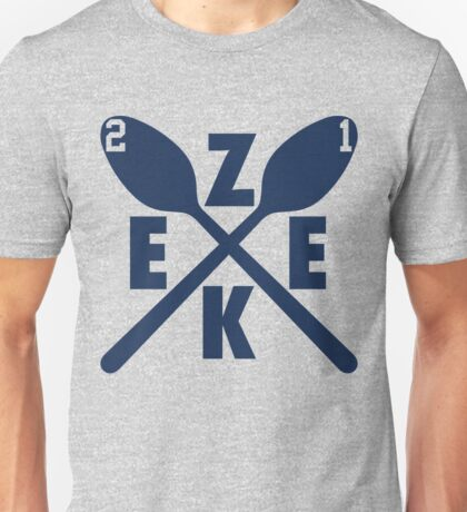 Zeke Spoons (Blue-Cut Out Numbers) Unisex T-Shirt