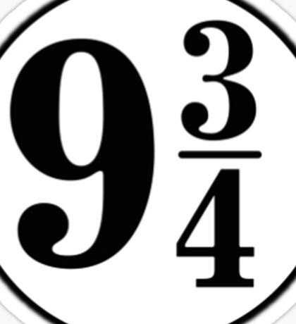9 3/4 - Your Choice Sticker