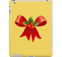 Christmas Ribbon Red Holly Green Decoration BerryChristmas Ribbon Red Holly Green Decoration Berry iPad Case/Skin