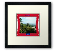 Haiti - Domain of  Mountains Framed Print