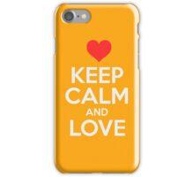Keep Calm And Love iPhone Case/Skin