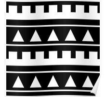 Black and White Geometric Triangle Print / Tribal / Boho Poster