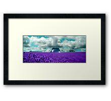 Utopia - Purple Landscape Framed Print