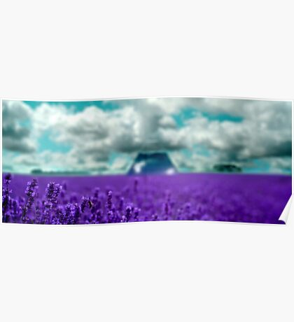 Utopia - Purple Landscape Poster
