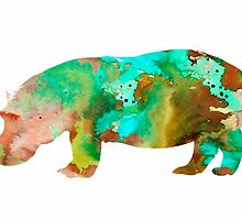 Hippo 2 by Watercolorsart