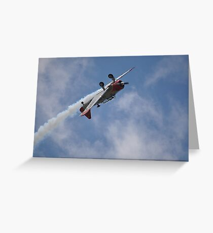 Kempsey Air Show,Australia 2016-Texan VH-WHF inverted  Greeting Card