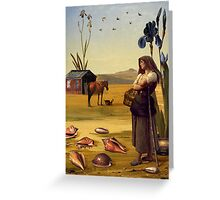 Seven of Pentacles Greeting Card