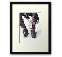 A Boot Moment Framed Print