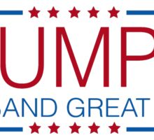 Trumpet - Make Band Great Again Political Slogan Sticker