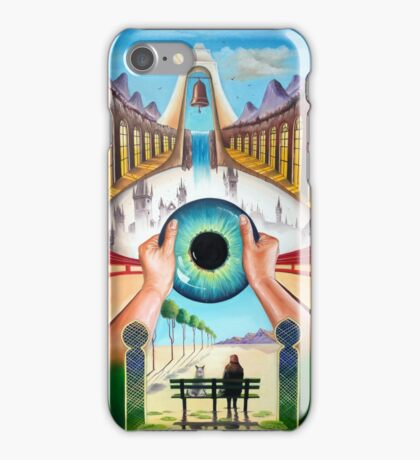 Behind empty eyes iPhone Case/Skin