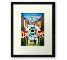 Behind empty eyes Framed Print