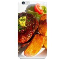 Ribeye steak with country potatoes iPhone Case/Skin