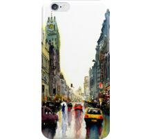 Raining in the city iPhone Case/Skin
