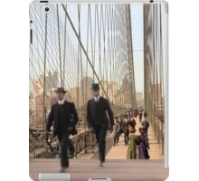 Brooklyn Bridge, New York, 1905 — Colorized iPad Case/Skin