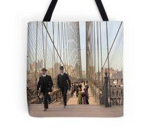 Brooklyn Bridge, New York, 1905 — Colorized Tote Bag