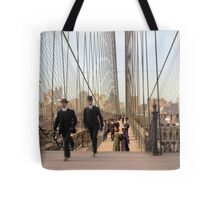 Brooklyn Bridge, New York, 1905 — Colorized Tote Bag